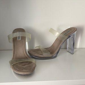 Steve Madden clear heels 8.5